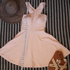 💗Light Pink Cross Strap Cocktail Dress💗